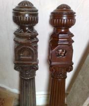 Rescued Newel Posts Restored