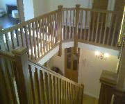 Cumbernauld, oak stair with gallery