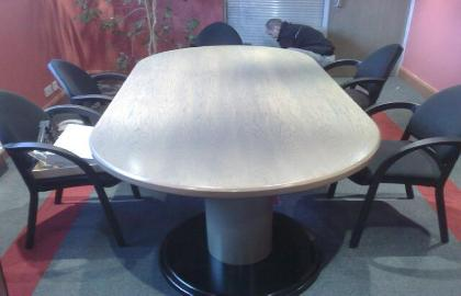 Pigmented stain boardroom table